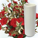 Red & Gold Carnations 12 stems with Ceramic Vase + FREE DIARY, £16.98