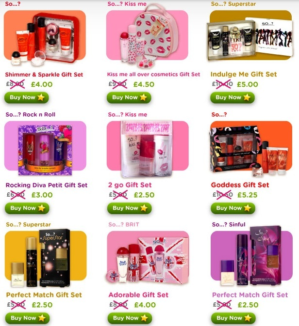 So Fragrance 50% off - All gift sets