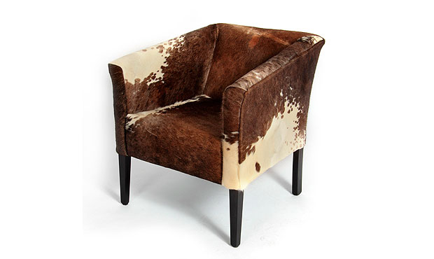 Cow hide chair