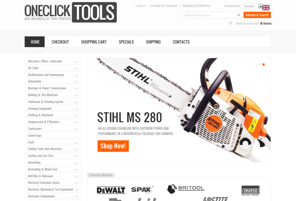 OneClickTools.co.uk | Up to 90% off DIY, Tools, Components, Hardware and equipment