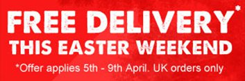 Free UK delivery 5th-9th April
