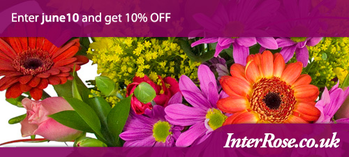 June Special 10% Discount from InterRose.co.uk