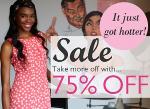 Now Up to 75% off selected summer styles