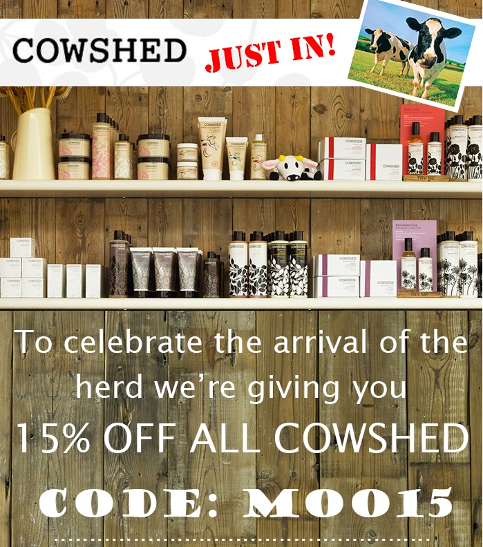 15% off Cowshed at de Gruchys