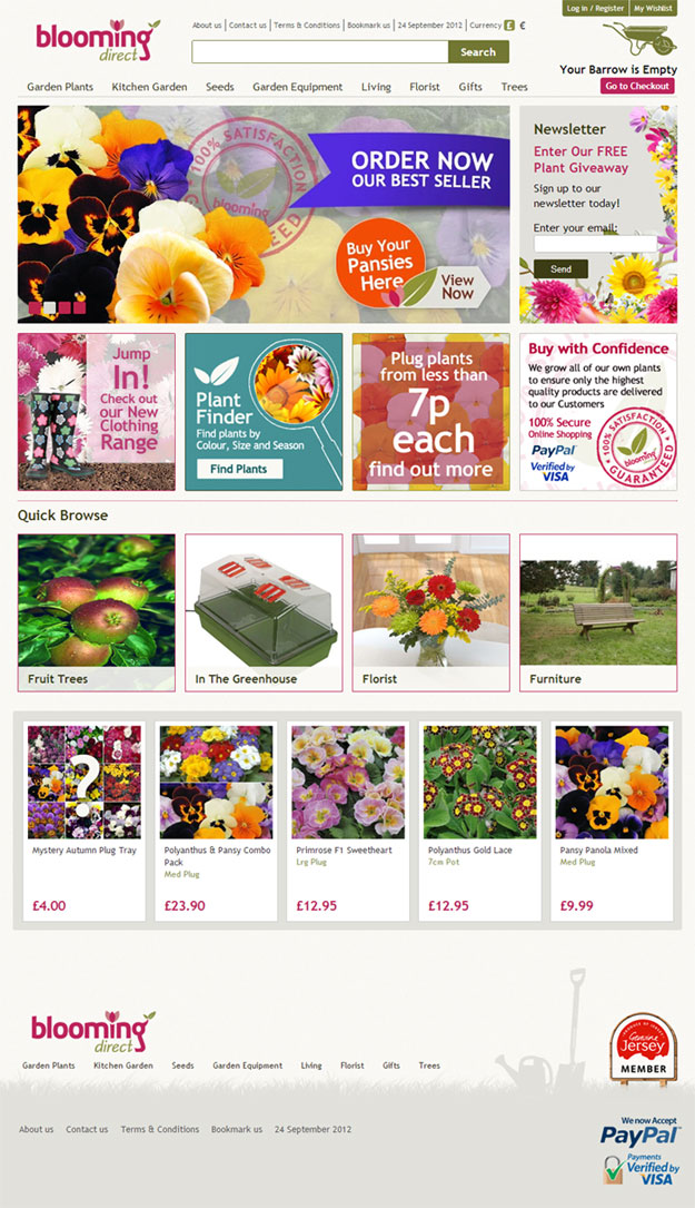 new web site bloomingdirect