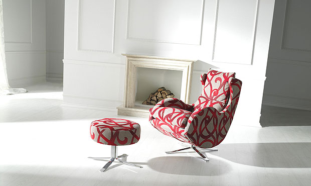 Enzo chair part of our designer fabric collection