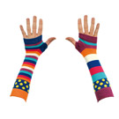 Mismatched Hand and Arm Warmers