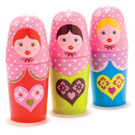 Russian Doll Lip Balms