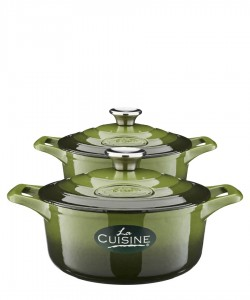 42% off on Casserole set in olive (also available in black, red and blue)