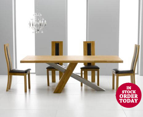 Chateau 225cm Table with 6 Black Toronto Chairs