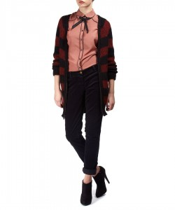 Bow tie shirt in desert rose