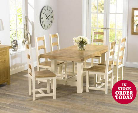 Marlow Table Six Marlow Chairs