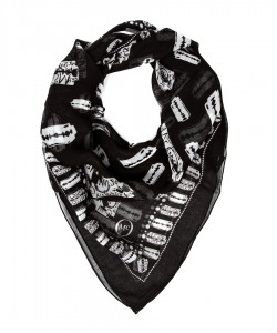 Women's monochrome printed scarf