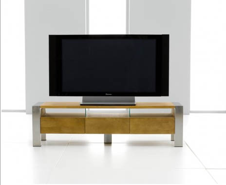 Chateau Oak & Metal TV Unit