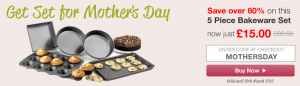 81.25% Off 5 Piece Bakeware Set