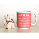 Mother's Day Message Mug & Bear Keyring