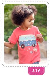 Girls Happy Camper Applique t-shirt