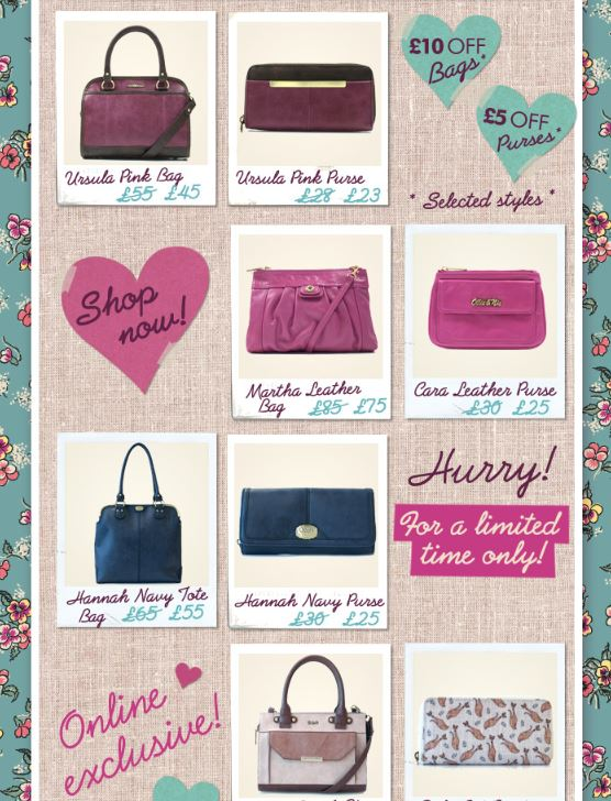£10 off Bags & £5 Off Purses at Ollie & Nic