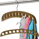 Chrome & Beech Scarf Hanger