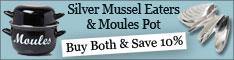 Mussel Pot & Eaters Bundle