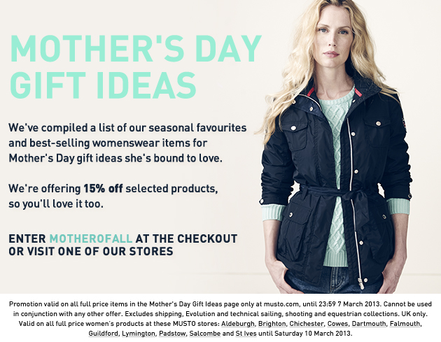 Musto for Mothers day