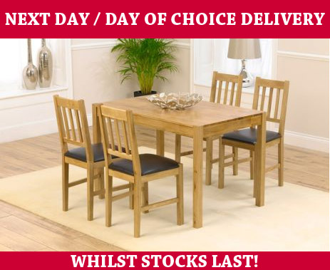 Oxford Oak Dining Table & 4 Oak Chairs