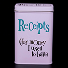 Receipts Tin