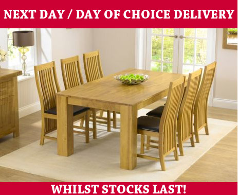Tuscany 180cm Dining Table and 6 Chairs