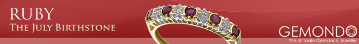 July Birthstone Ruby Jewellery from Gemondo