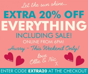 Extra 20% Off Everything Including Sale!