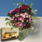 Popular Bouquet of Jersey Grown Flowers + Jersey Biscuits , just £16.98