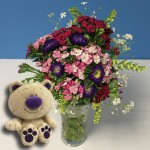 Popular Bouquet of Jersey Grown Flowers + Mowbray Bear, just £17.98