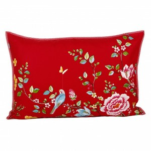 Pip Studio Morning glory pillowcase red (2f)