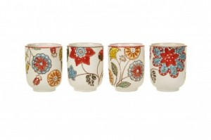 Pols Potten Floral Pattern Cup Set of 4 (1)
