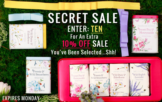 Secret Sale and Voucher Code from Heathcote & Ivory