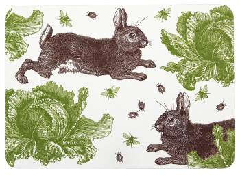 Thornback  and peel rabbit and cabbage placemat set of 4 (3)