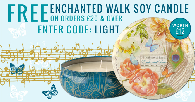 Free Enchanted Walk Scented Candle from Heathcote & Ivory