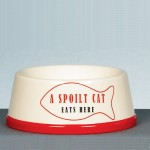 A Spoilt Cat Eats Here Feeding Bowl just £11.99!
