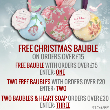 Up to 3 FREE Christmas gifts at Heathcote & Ivory