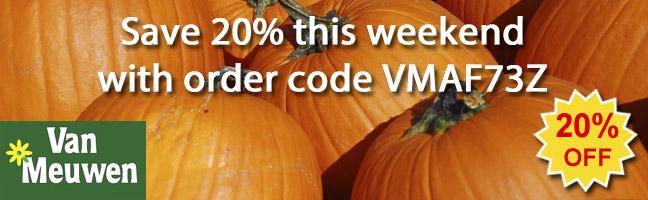 Save 20% this weekend