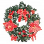 Decorated Christmas Wreath, only £14.99