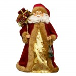 Burgundy Santa with Lantern and Presents Sack, only £15.99