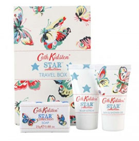 Cath Kidston Star Lime & Mint Travel Box Set