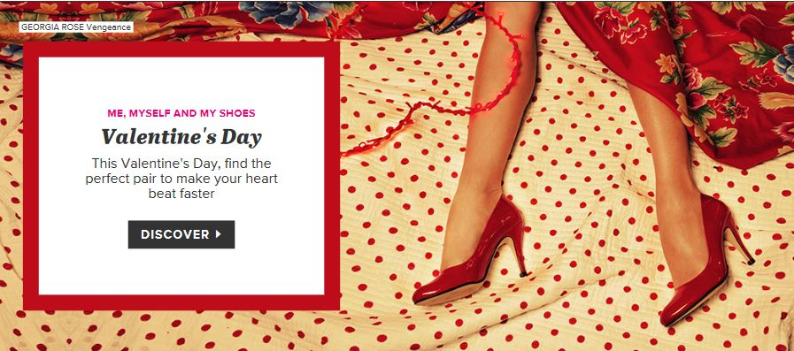 Valentine's Day shoes at Sarenza