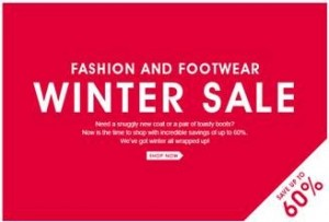 fashion and footwear winter sale