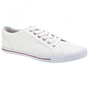 leather look plimsol