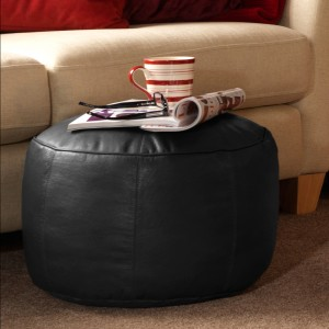 Real Leather Footstool bean bag