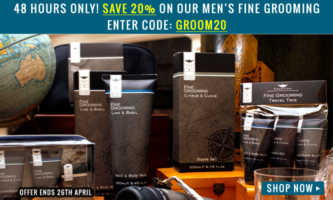 Men's Fine Grooming 20% Off