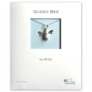 Silver Bee Necklace (2)