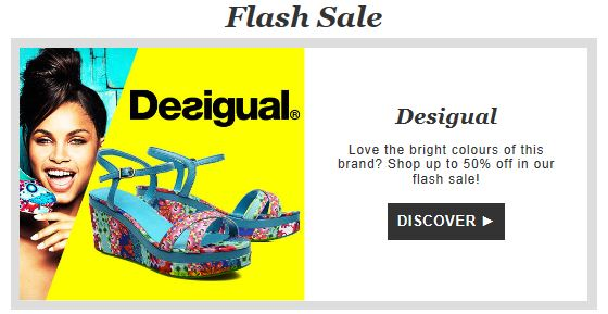 Desigual private sale